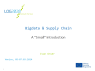 BigData & Supply Chain a Small Introduction